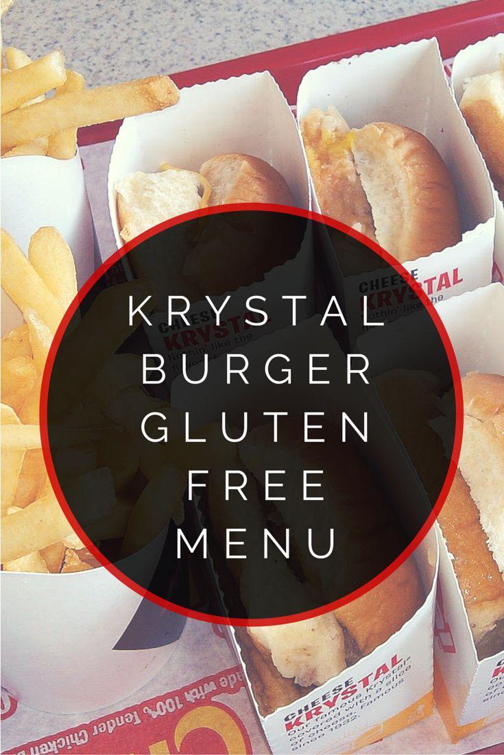 Krystal Burger Gluten Free Menu #glutenfree