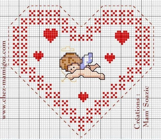 481 best Point de Croix Coeurs images on Pinterest | Cross stitch patterns, Crossstitch and ...