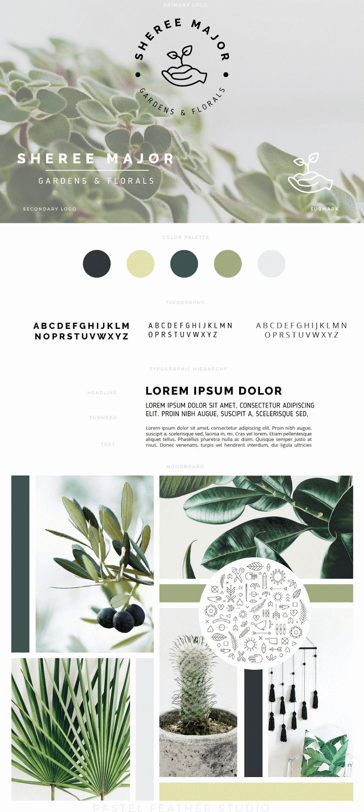 DESIGN WORK - Custom branding service Pastel Feather Studio
