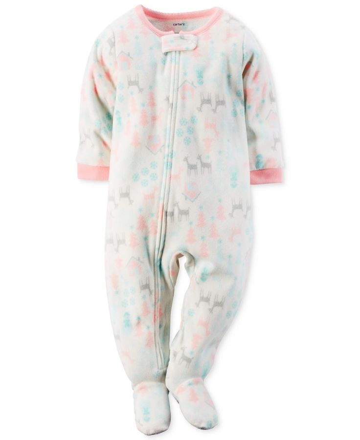 Carter's Baby Girls' One-Piece Footed Winter Pajamas