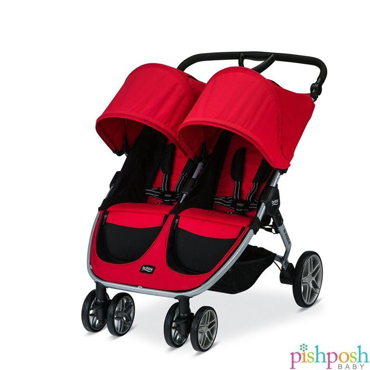 The lightweight B-AGILE Double stroller incorporates the same quick-fold design and great maneuverability of the single B-AGILE stroller, with room for two! Features include adjustable handlebar, Click & Go System works with any Britax infant car seat, extra-large canopies, all-wheel suspension, huge underseat baskets, and much more. Available in black and red. Priced at $337.49.  http://www.pishposhbaby.com/britax-b-agile-double-2016.html #infantcarseatandstroller