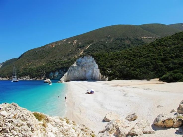 Fteri beach in Kefalonia