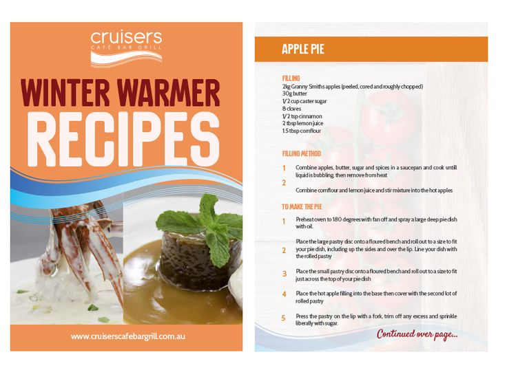 Recipe book designed for Cruisers Cafe Bar and Grill to be used on their website for new VIP members and eventually to go on Kindle