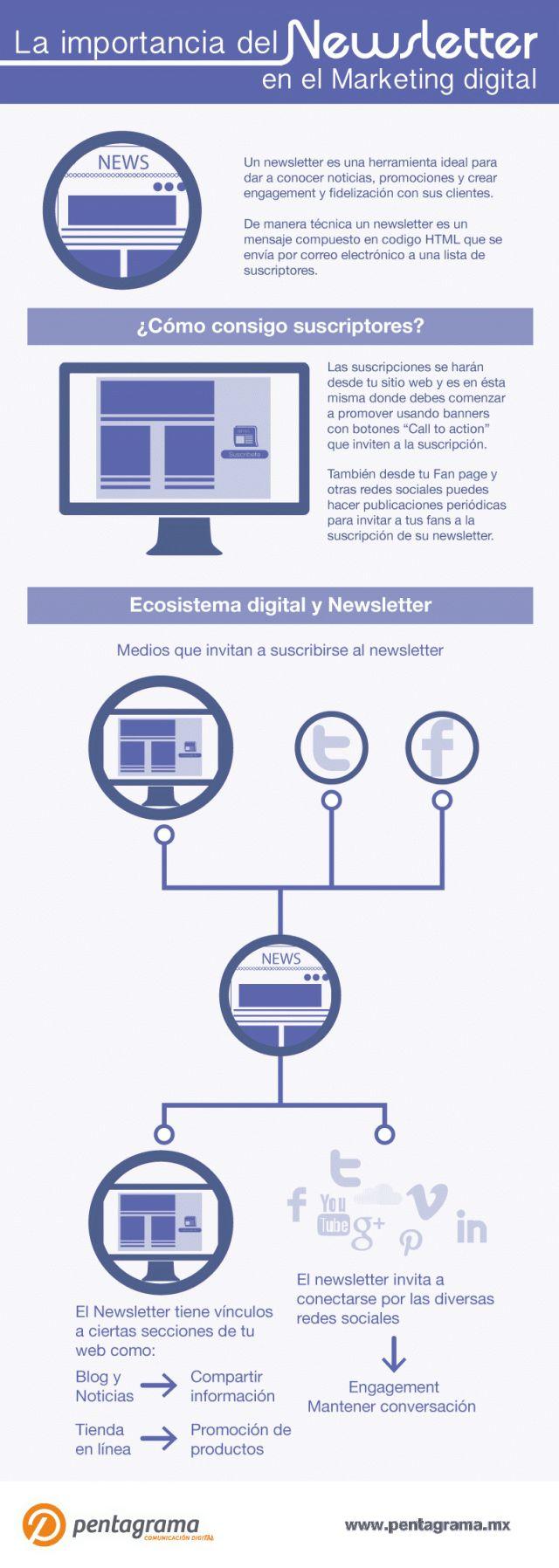 La importancia del Newsletter en el Marketing Digital #infografia #infographic #marketing