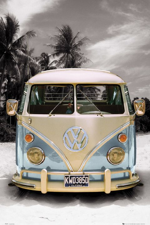 New Volkswagen Camper Vans | VW Split Screen Camper Van Large Poster Californian New | eBay