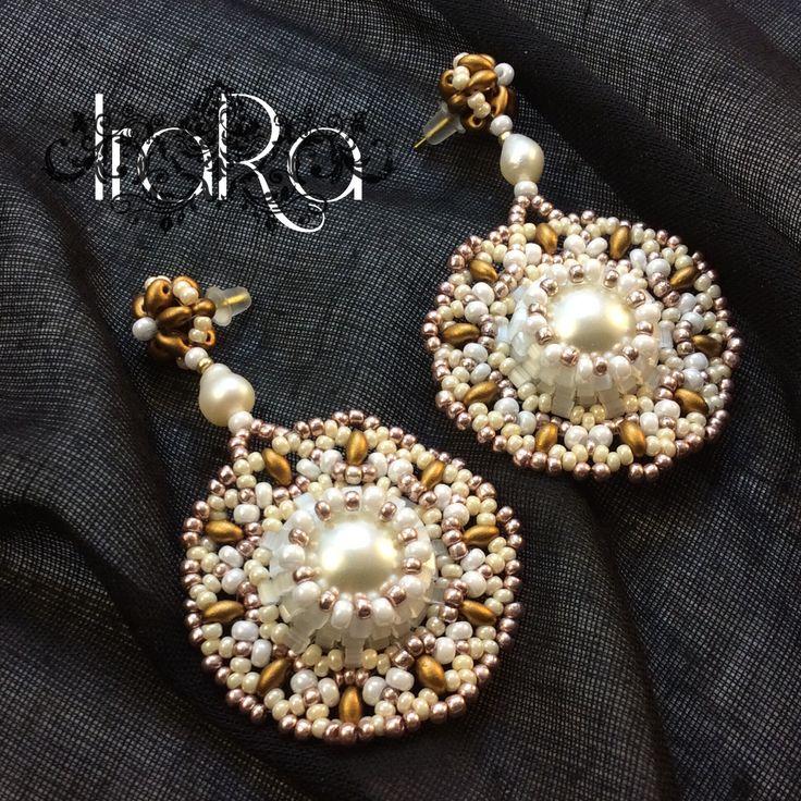 Серьги из бисера от IraRa #бисер #серьги#бижу#украшения#дляневесты#bead#earring#handmade#ручнаяработа#bijo