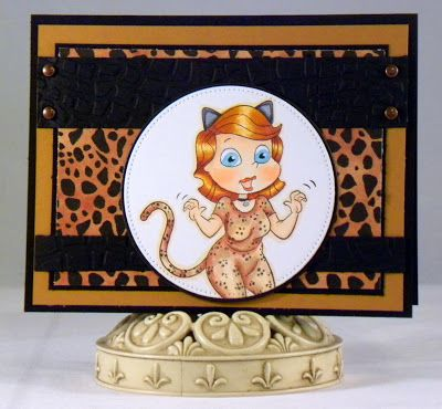 Loves Rubberstamps Blog: Cougarlicious - Monday Inspirations with Holly Flores using Creative Visions Stamps