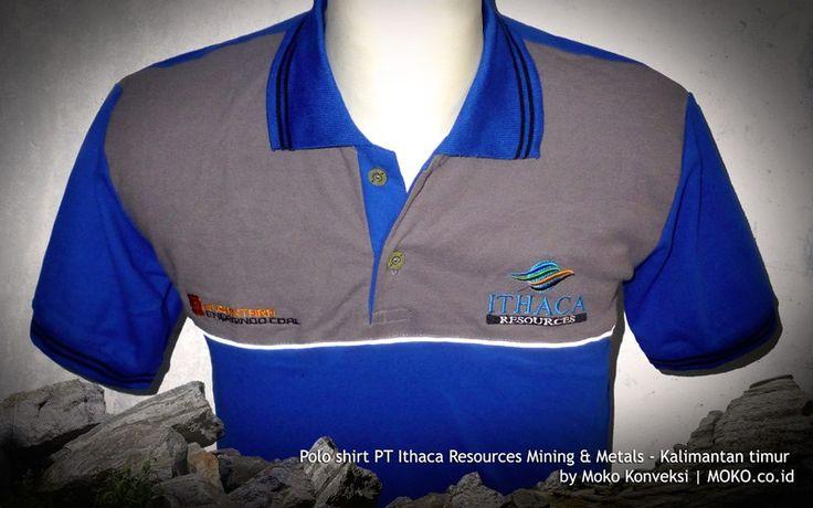 Polo Shirt Tambang ITHACA Resources [Kalimantan Timur - Indonesia] by @mokokonveksi   Polo shirt merupakan alternatif yang tepat. Karena memiliki tampilan smart casual dengan bahan yang nyaman. Baik digunakan saat event perusahaan, meeting, pekerjaan outdoor dan kegiatan lain yang tidak memerlukan perlindungan ekstra.