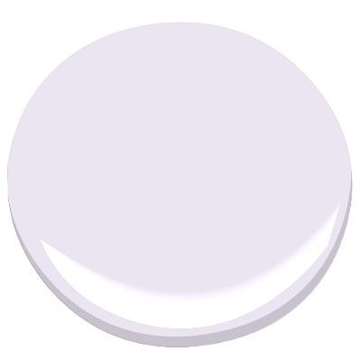 Benjamin Moore misty lilac: An appealing innocence permeates this softest lilac. Pale and misty, it adds a faint, decorative glow to any space.