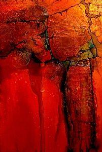 "Carol Nelson - Work Detail: ""ANASAZI"" mixed media on canvas"