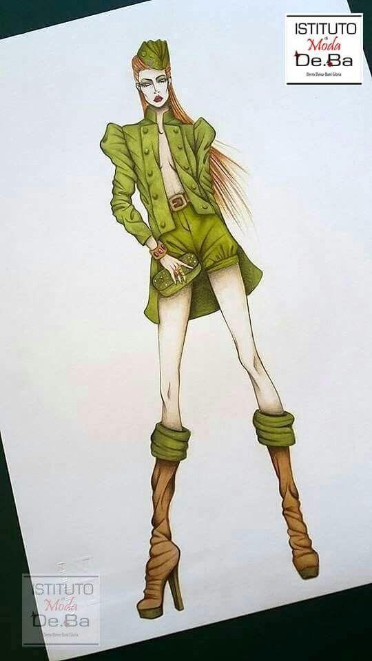 Militar chic Figurino di moda