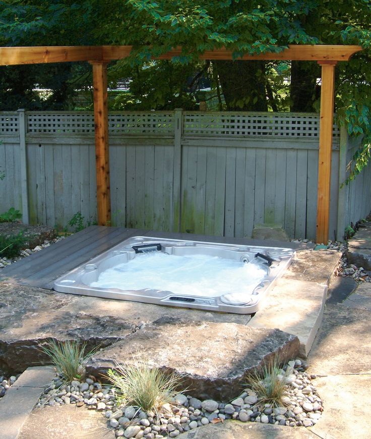 Hydropool Self-Cleaning hot tubs can be special ordered without cabinets to make in-ground installs like this much easier.