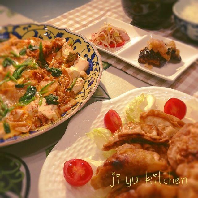 もやしとベーコン炒めって、シンプルだけど、なかなかいけます(≧∇≦) - 2件のもぐもぐ - キムチと豆腐の卵とじ・揚げ餃子・ナスのみぞれ和え・もやしとベーコン炒め by ji-yu