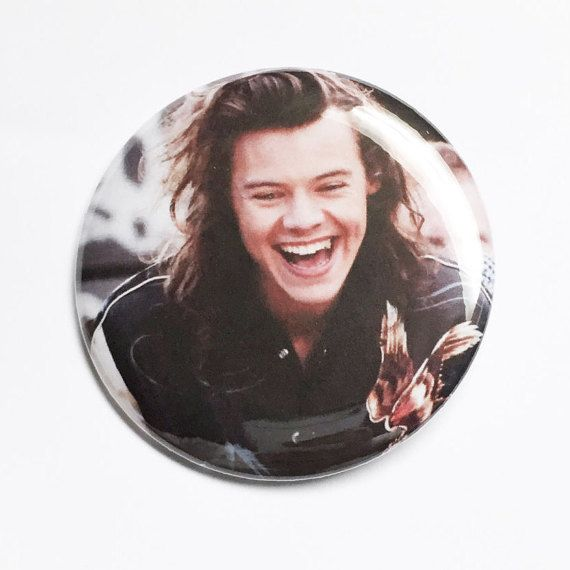 Harry Styles Smiles-One Direction-2.25 inch by FrantasticButtons