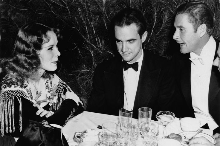 Flynn (right) was rumored to have tangled with director Howard Hughes ...