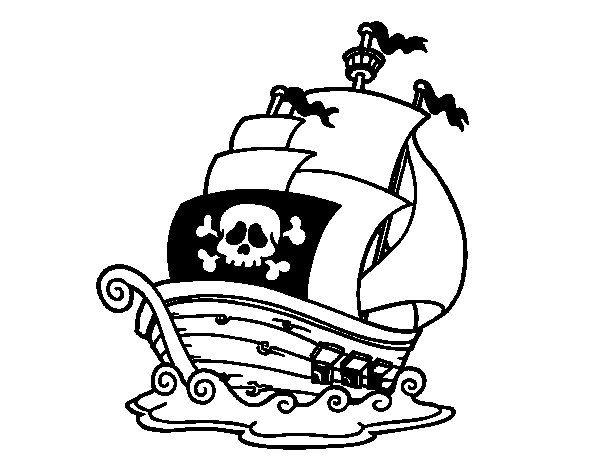 Disegno di Nave dei pirati da Colorare