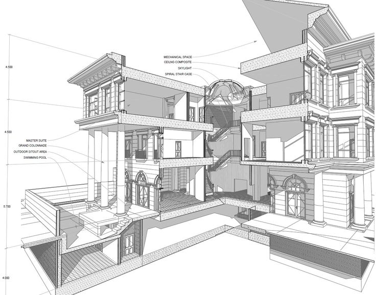 3d Construction Plan Section Archicad Google Keres S Architecture Rendering
