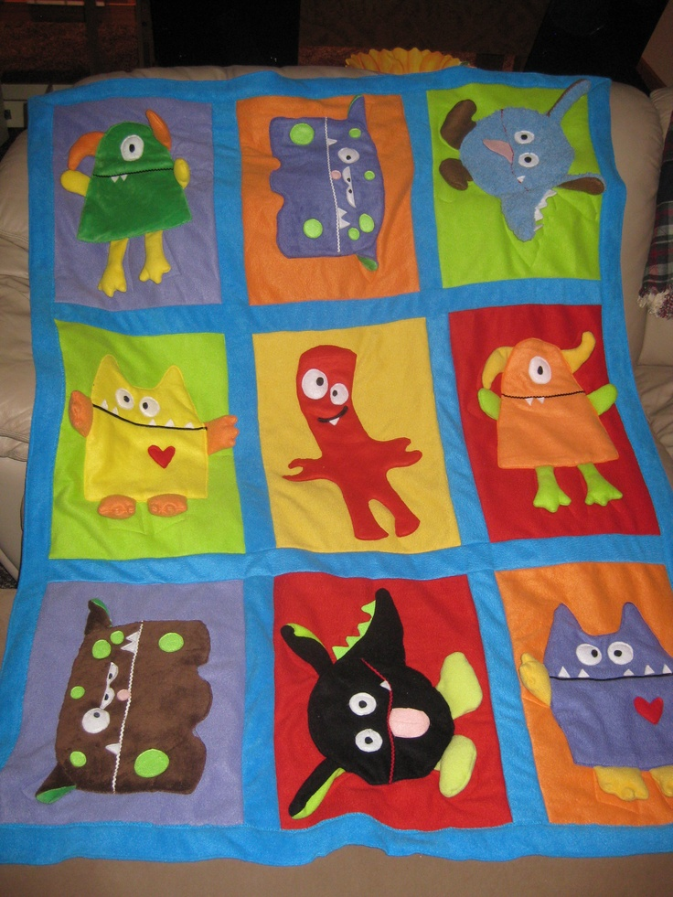 Baby Quilt Patterns Mccalls : 17 Best images about Mounstros patch on Pinterest Appliques, Quilt and Felt monster