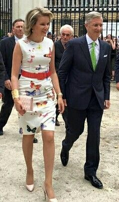 Queen Mathilde & King Philippe Celebrate Belgium's National Day At The Royal Park In Brussels, July 21, 2016.