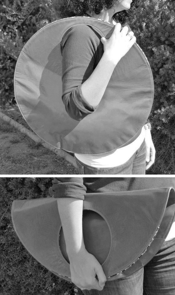 Borsa grande in pelle grande clutch borsa nera del di stellachili