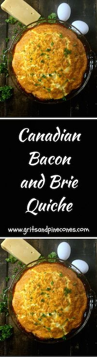 Canadian Bacon & Brie Quiche is a delicious and easy to prepare choice for a healthy low-carbohydrate breakfast, lunch, and even dinner!   via @http://www.pinterest.com/gritspinecones/