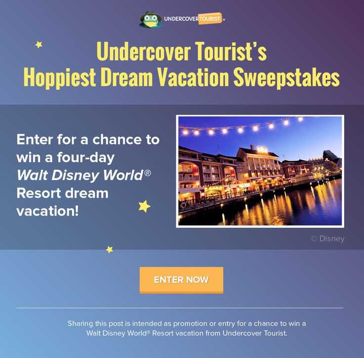 I entered for a chance to win a Walt Disney World® Resort vacation from Undercover Tourist! http://gvwy.io/xde0yxq