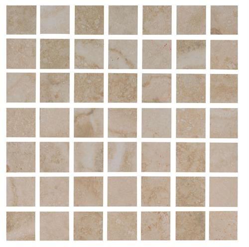 Interceramic travertino royal ivory 12 x 12 mosaic for 16x16 kitchen designs