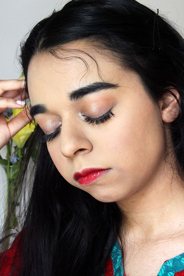 Here is a makeup idea for anyone looking for something a little dramatic. I only used a few products and it is perfect for people with brown eyes.
