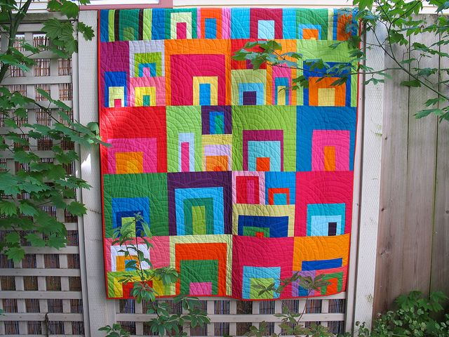 high-volume 3/4 log cabin by arajane & the love circle of do. good stitches