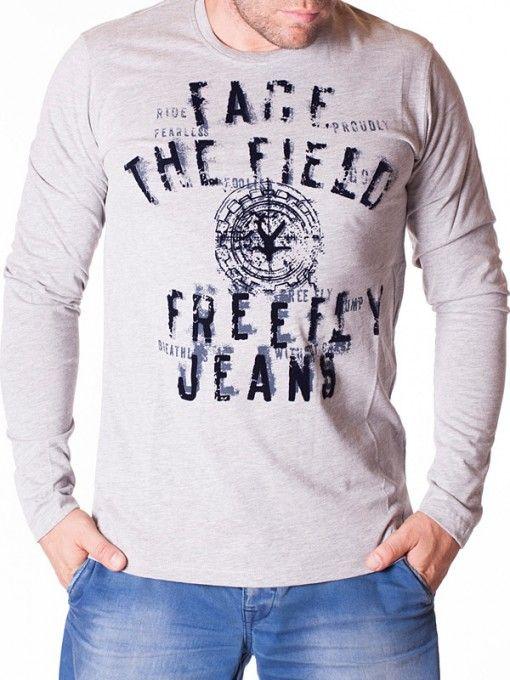 Bluza barbati Face The Field gri deschis