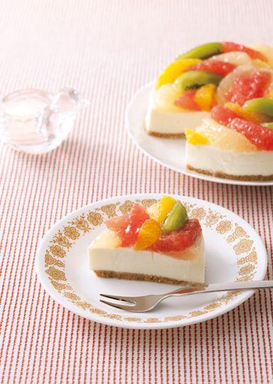 フルーツレアチーズケーキ のレシピ・作り方 │ABCクッキングスタジオのレシピ | 料理教室・スクールならABCクッキングスタジオ