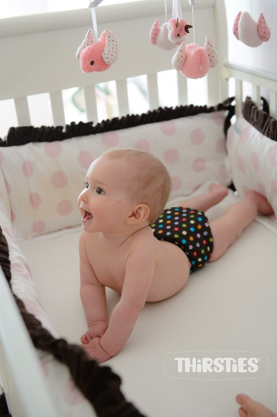 New from Thirsties #clothdiapers #polkadance
