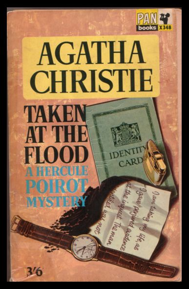 Taken at the Flood by Agatha Christie.  Pan edition, 1965.