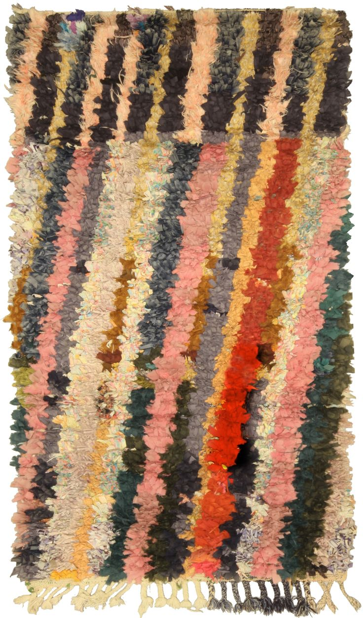 View This Item And Discover Similar Moroccan And North African Rugs For Sale  At   A Vintage Moroccan Rug With Contemporary Multi Colored Diagonal  Stripes Of ...