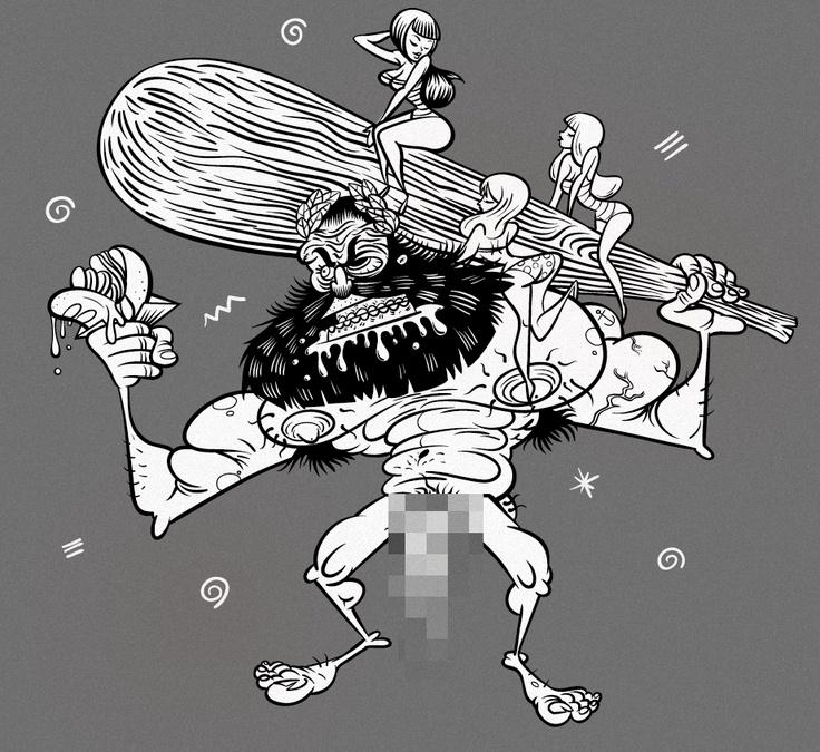 t-shirt design for a punk-rock-band