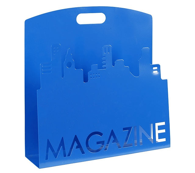 Rangement magazine TOWER Bleu - Portes Revues & Courriers BUT