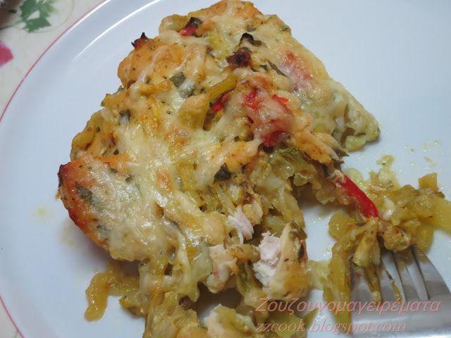 Ζουζουνομαγειρέματα: Κοτομπουκιές με λαχανικά και τυράκι στο φούρνο!