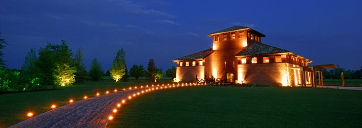 The winery at night