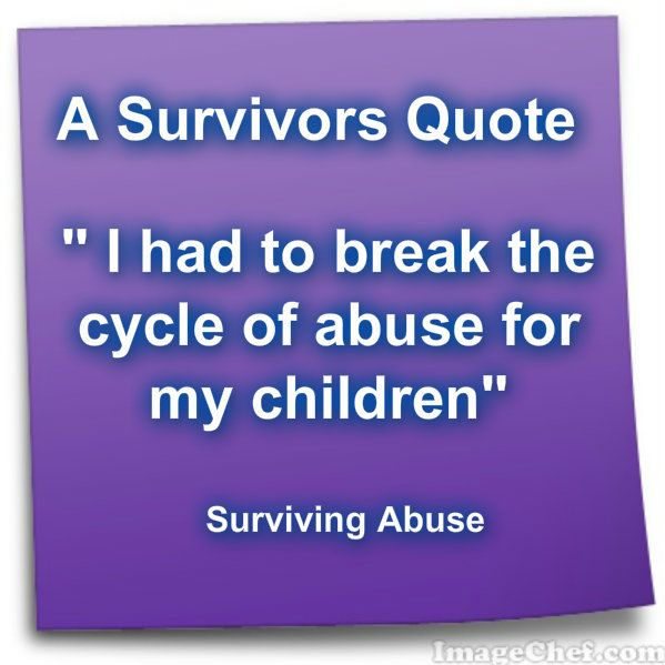 This is the quote I will use with my child abuse tattoo of rose and ribbon!!