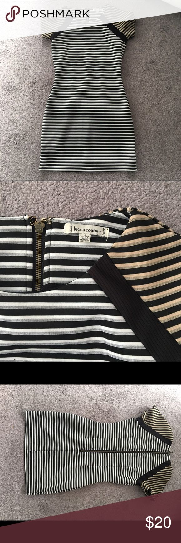 Urban outfitters striped body con dress Small striped body con dress from urban outfitters - worn once or twice Urban Outfitters Dresses Mini