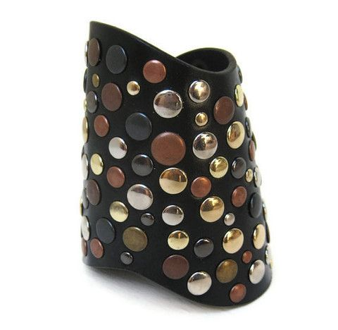 spare change studded leather cuff