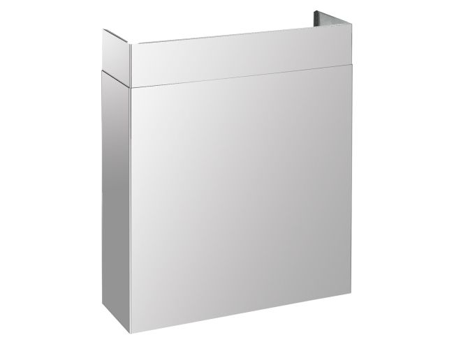 """Full width duct cover, suitable for PRO 36"""" hoods. Finishing, stainless steel. Tecnogas SUPERIORE"""