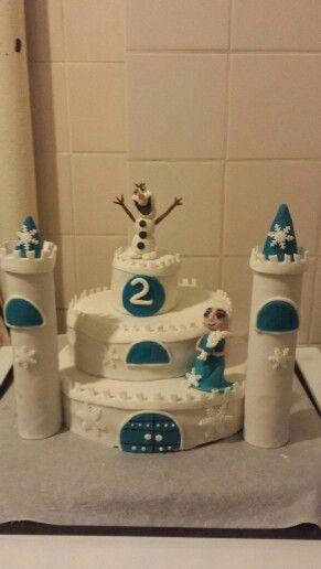 Frozen kasteel taart/ frozen castle cake
