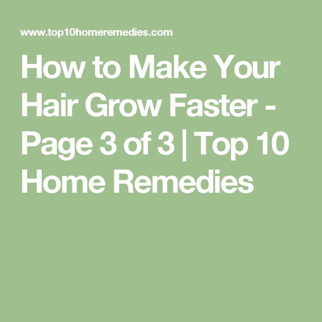 how to grow hair quickly with home remedies