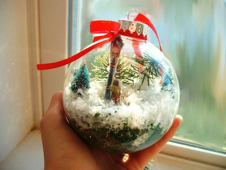 Narnia Snow Globe Christmas Ornament Lamp Post Scene In