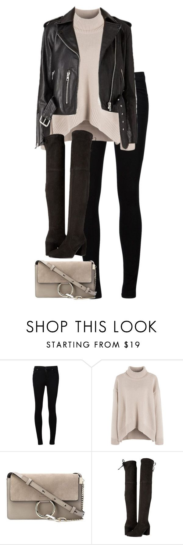 """Untitled #2978"" by elenaday on Polyvore featuring Citizens of Humanity, Chloé and Stuart Weitzman"