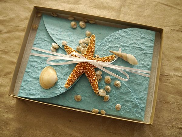 starfish invitations- where were these when I got married? Lol as much as I love mine these are awesome!