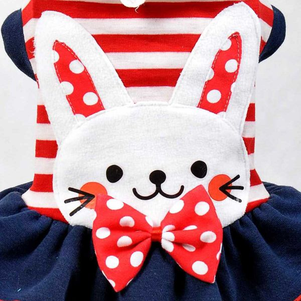 Lovely Rabbit Pattern Dress Pet Cat Dog Clothes for Dogs Dog coat ...