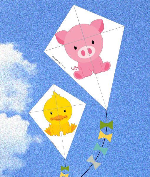 Farm puzzle kites
