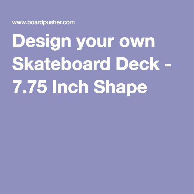 Make Your Own Skateboard Graphic